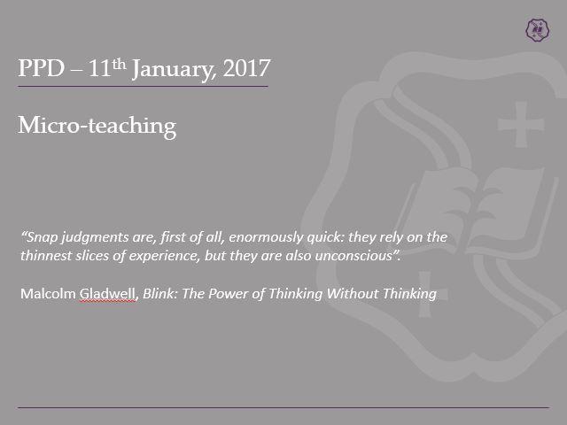 Microteaching Presentation